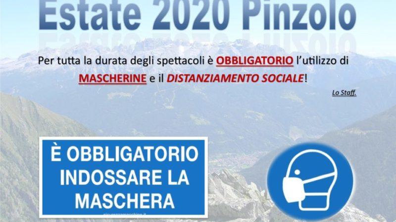 Pro loco Pinzolo:obbligo mascherina spettacoli piazza Carera