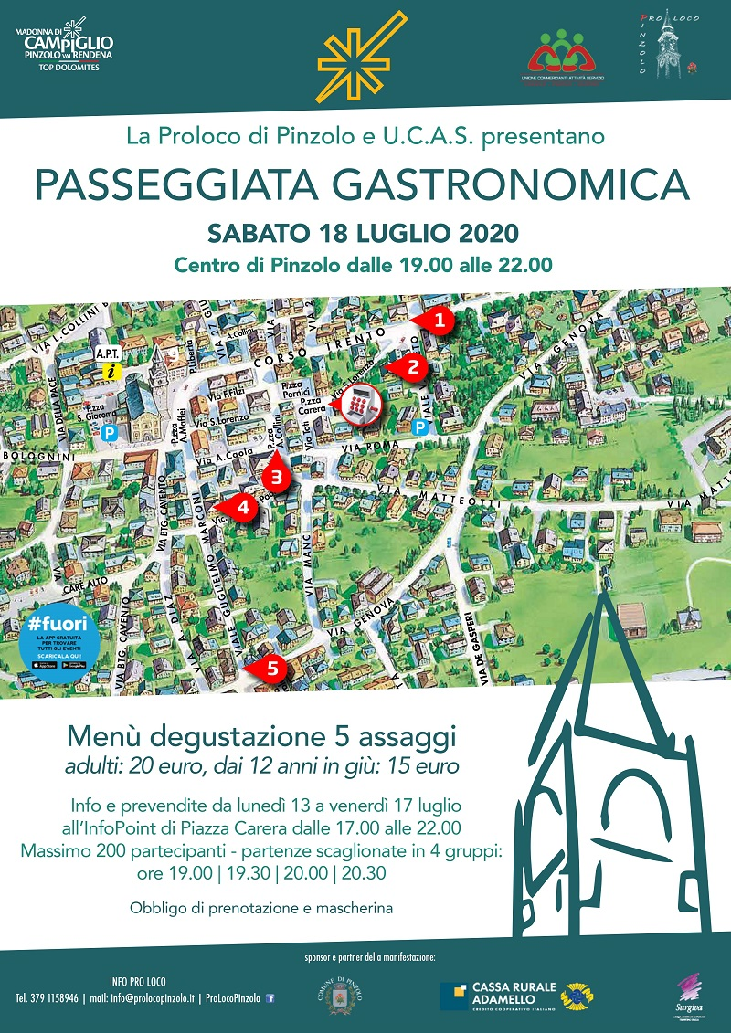 18 luglio a Pinzolo: Passeggiata gastronomica
