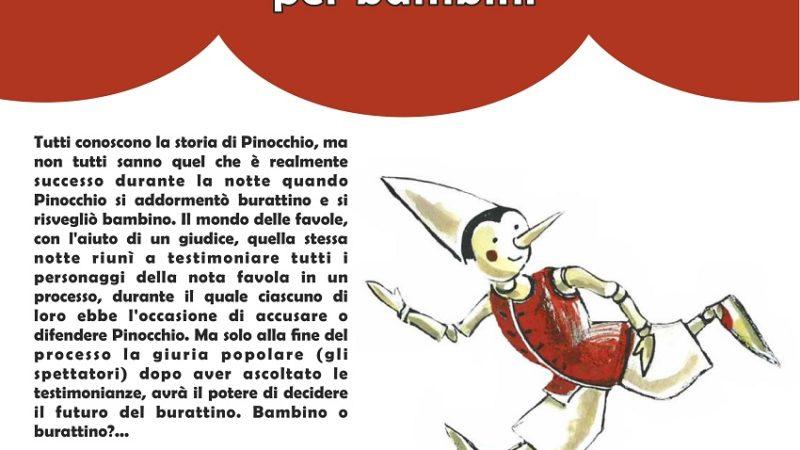 Pinocchio, il processo – Spettacolo di burattini per bambini