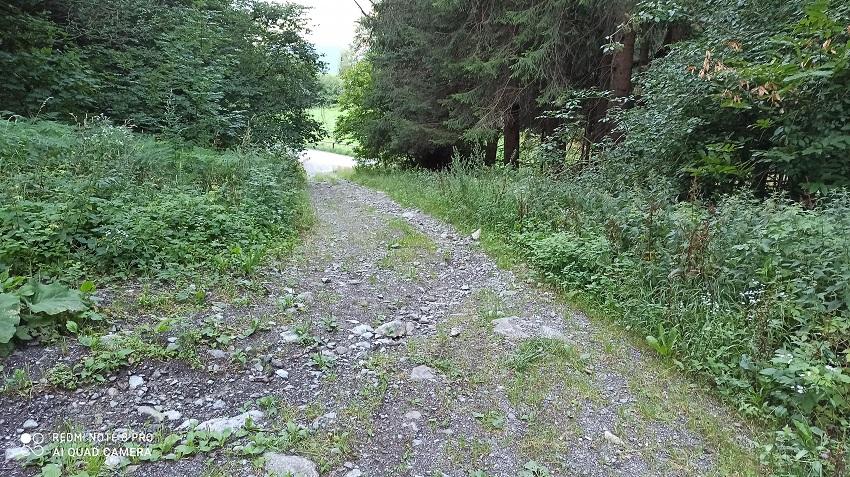 Il tratto di vecchia pista utilizzato come scorciatoia