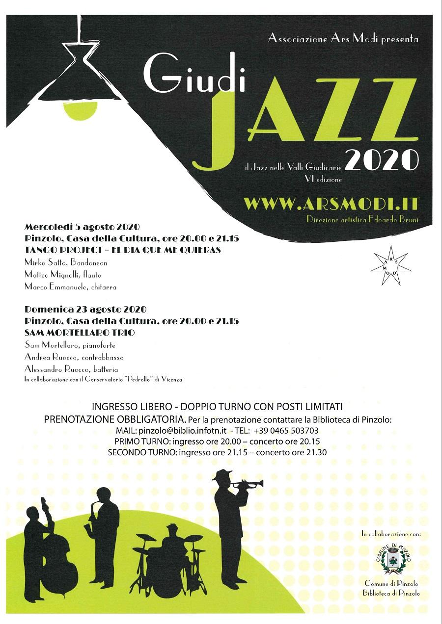 """GiudiJAZZ a Pinzolo, domenica 23 agosto con il """"Sam Mortellaro Trio"""""""