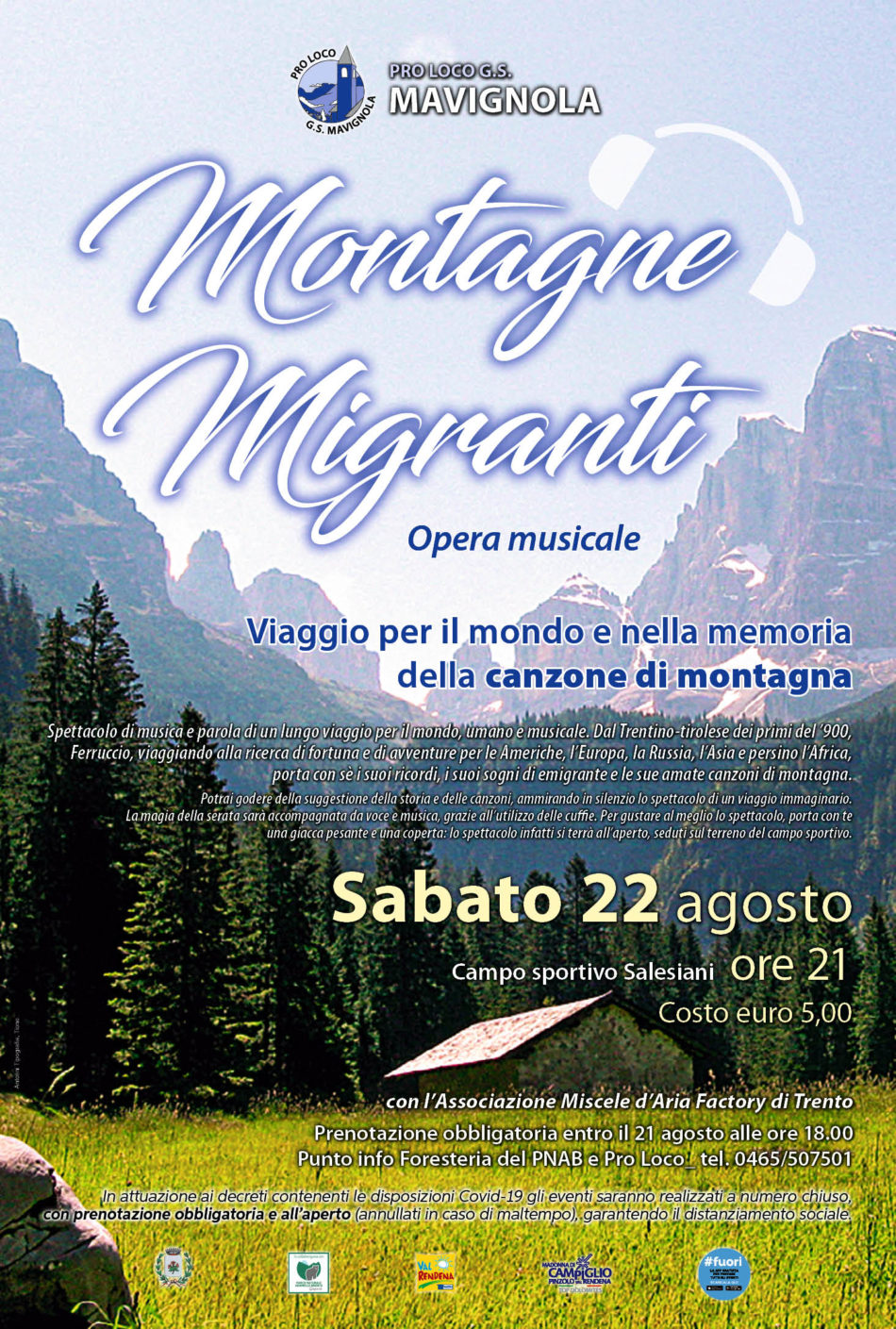 Mavignola, 22 agosto: Montagne Migranti