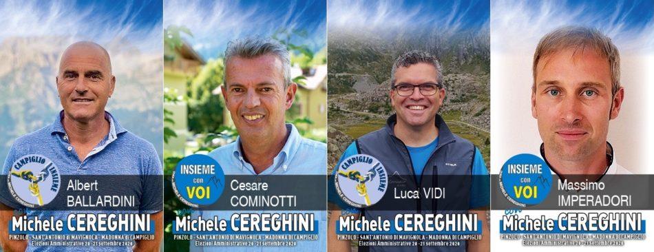Ecco i nomi dei nuovi consiglieri comunali di Pinzolo. I più votati sono Ballardini, Cominotti, Vidi e Imperadori