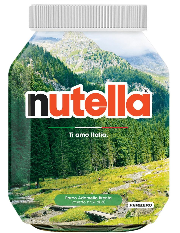 La Nutella ha inserito il Parco Naturale Adamello-Brenta tra le 30 bellezze d'Italia !