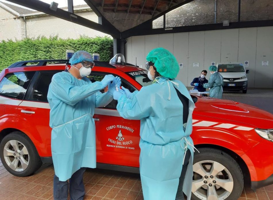 Aggiornamento situazione Coronavirus in Trentino – 1 novembre 2020: 210 casi positivi, quasi 2800 tamponi, 161 ricoveri