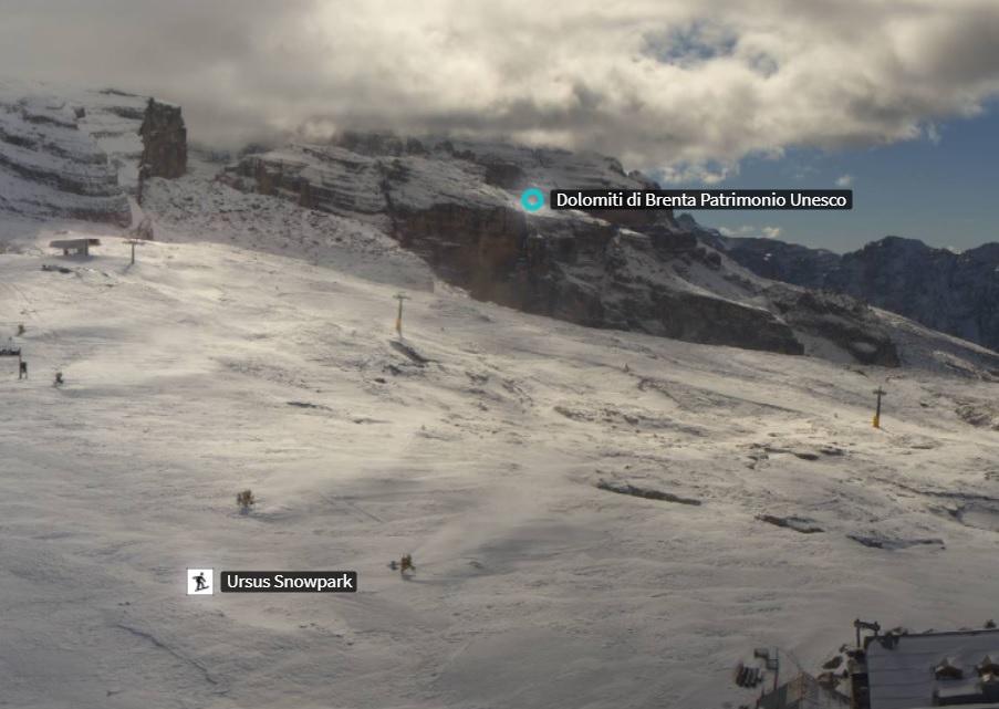 Hanno cominciato a sparare i cannoni nella skiarea Campiglio