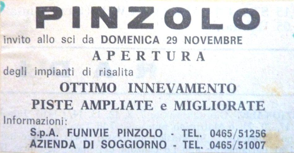 Pinzolo: 50 anni fa…