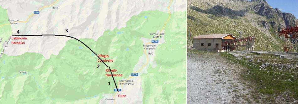Ipotesi di Collegamento Pinzolo/Tulot-Presena