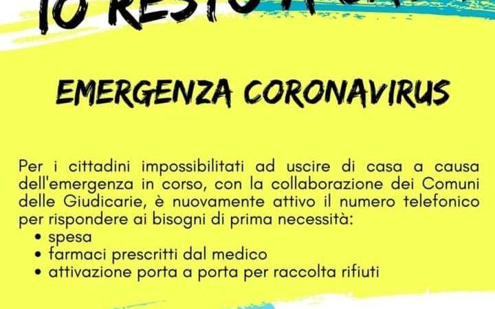Emergenza Coronavirus – Io resto a casa