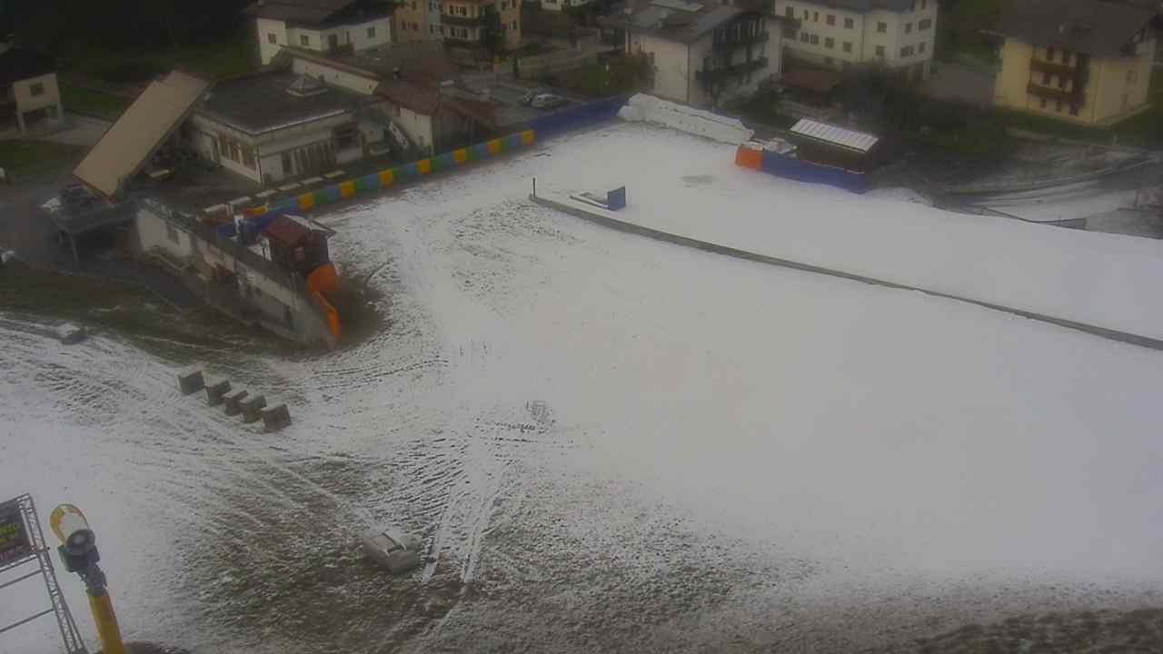 Anche a Bolbeno si è iniziato a sparare neve