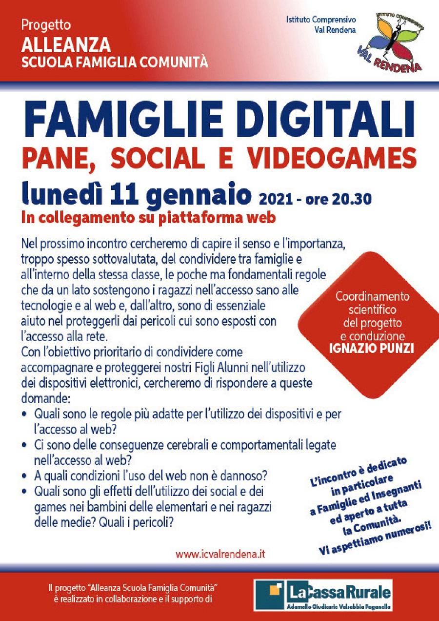 FAMIGLIE DIGITALI -PANE, SOCIAL E VIDEOGAMES