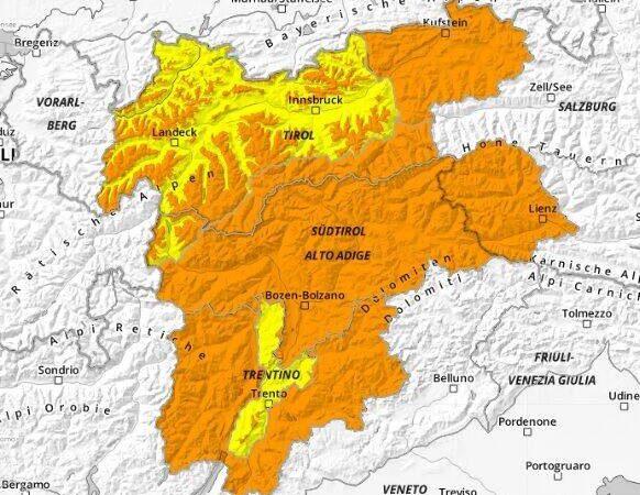 AVVISO PERICOLO VALANGHE – Spinale, Grostè, Vallesinella, Val Brenta