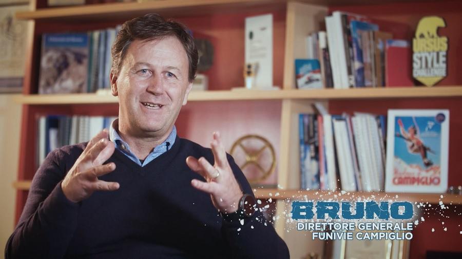 Bruno Felicetti inaugura la nuovissima telecabina Fortini con il Team Campiglio