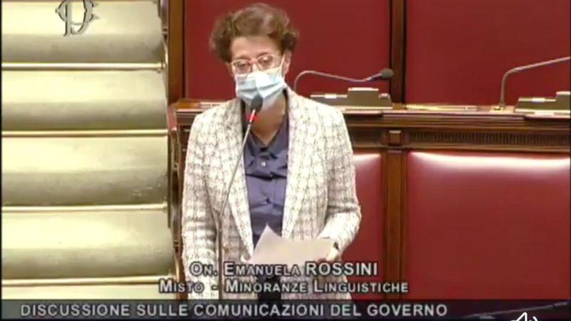 L'onorevole Emanuela Rossini è intervenuta stamattina alla Camera dei Deputati
