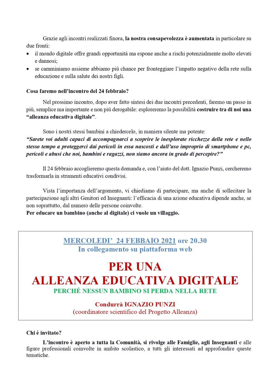 ALLEANZA SCUOLA FAMIGLIA COMUNITA'