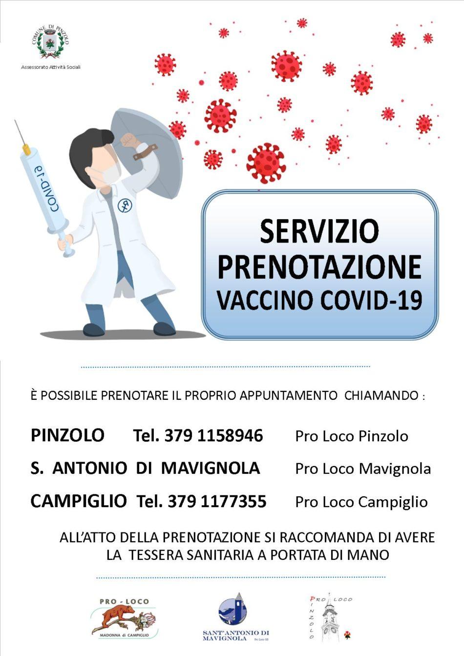 Comune di Pinzolo – Vaccinazione anti covid