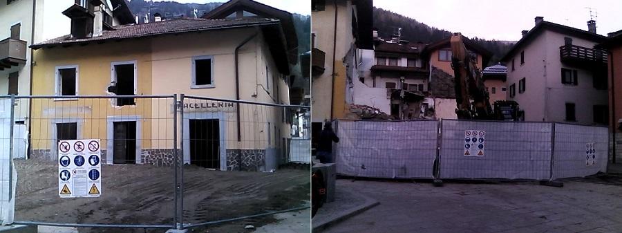 Prima e dopo la demolizione
