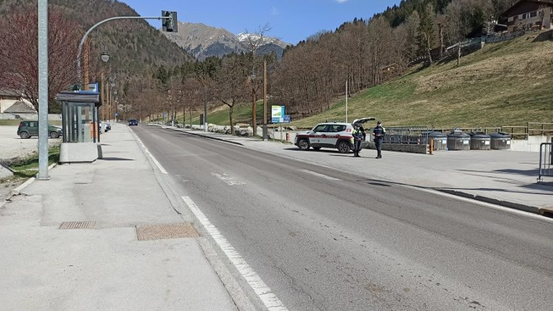 Pinzolo: controlli intensificati lungo la strada statale
