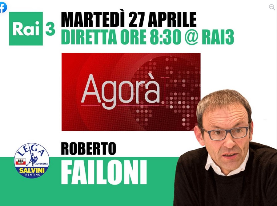 Pagina facebook di Roberto Failoni