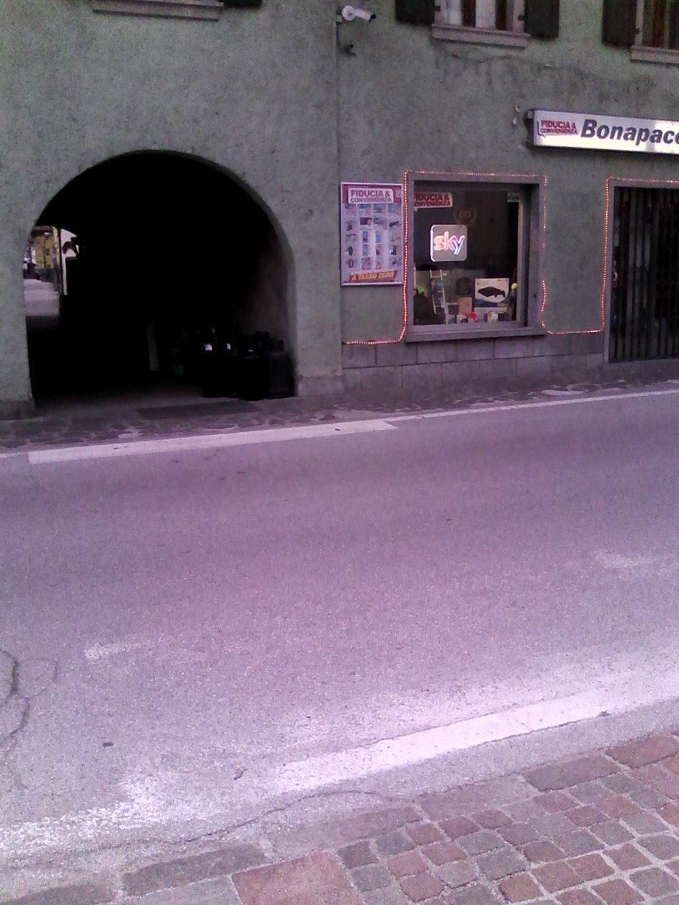 Strisce pedonali in centro a Pinzolo