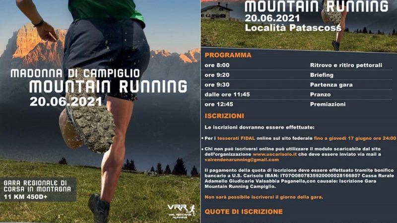 20 giugno – Mountain Running a Madonna di Campiglio