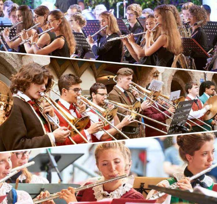 L'orchestra giovanile di fiati dell'Euregio arriva a Pinzolo