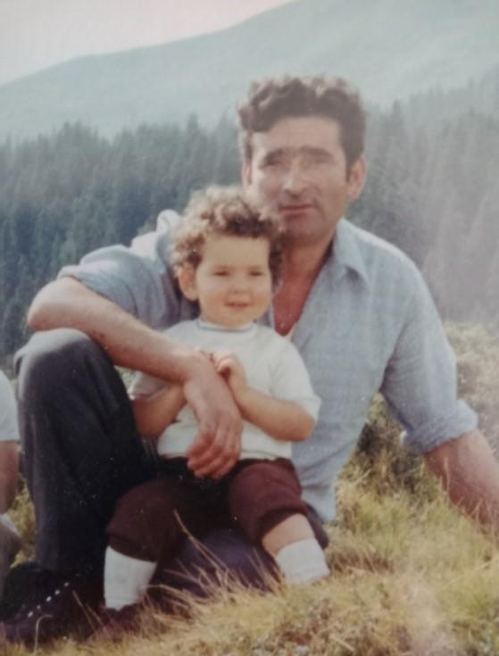 Papà Nino Lucchini con la piccola Daniela