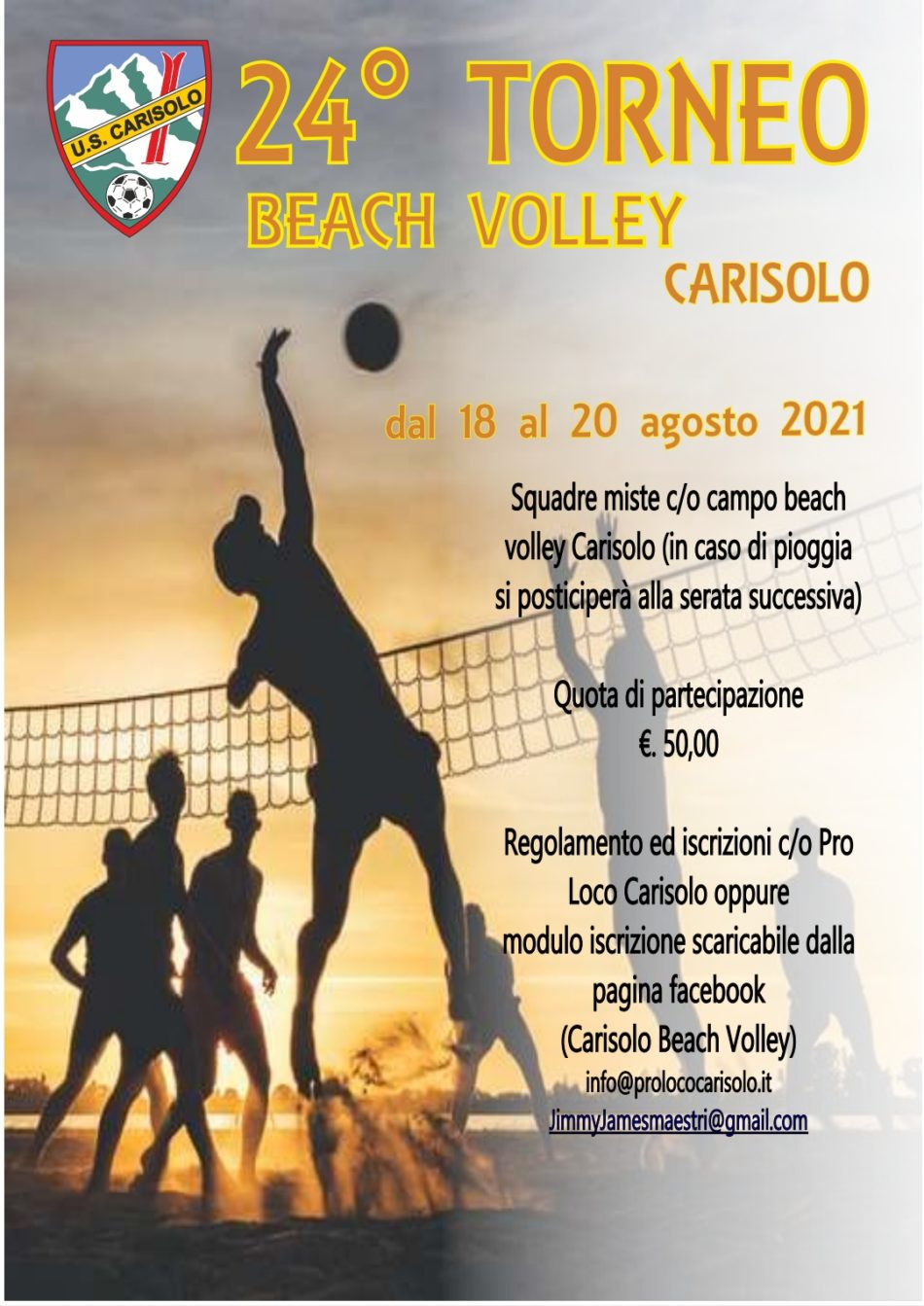 Ritorna, a Carisolo, il torneo di beach volley!!!