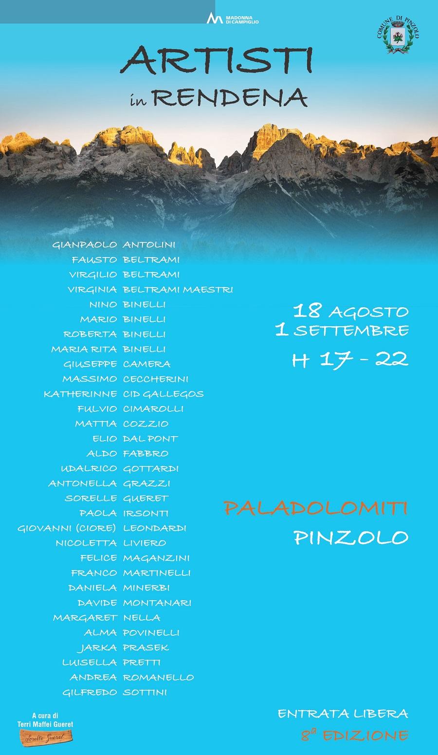 PalaDolomiti, dal 18 agosto al 1 settembre: Artisti in Rendena