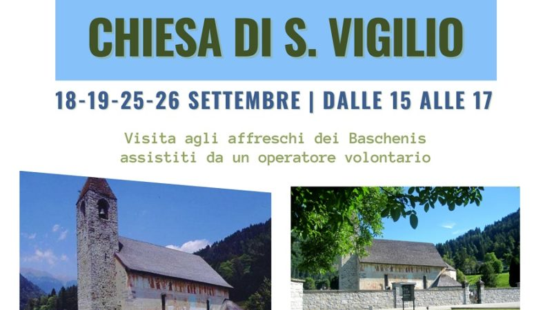 PALAZZI APERTI 18/19 e 25/26 settembre: apertura straordinaria chiesa di san Vigilio a Pinzolo