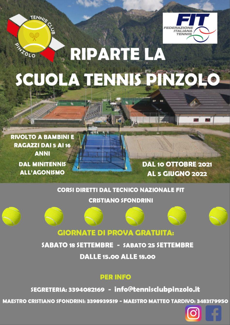 Riparte la Scuola Tennis Pinzolo