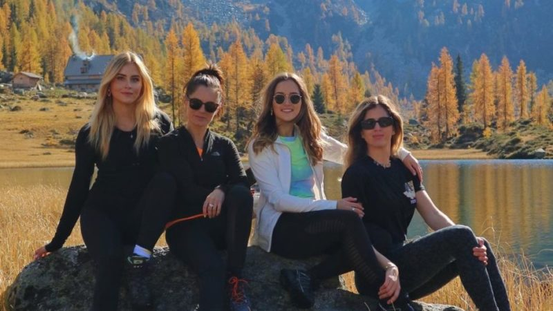 Le sorelle Ferragni al lago di San Giuliano