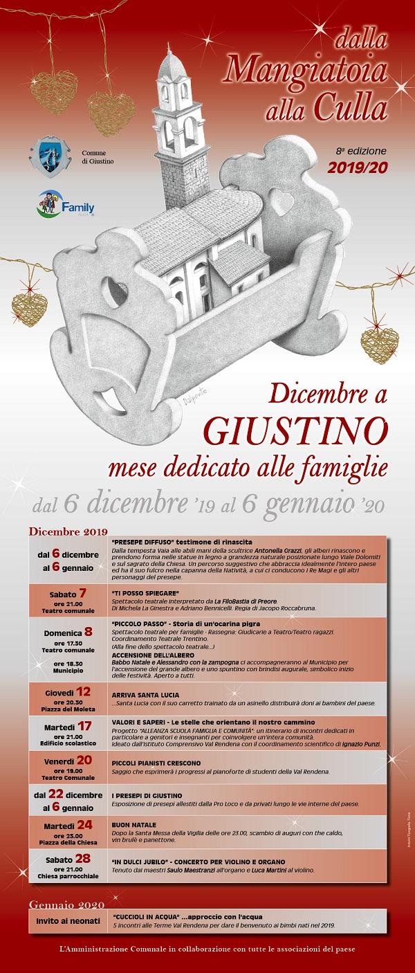 Dicembre a Giustino, un mese dedicato alle famiglie