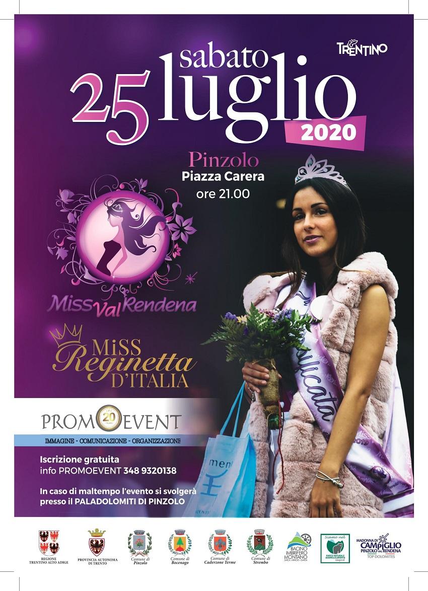 Sabato 25 luglio Pinzolo: Miss Val Rendena