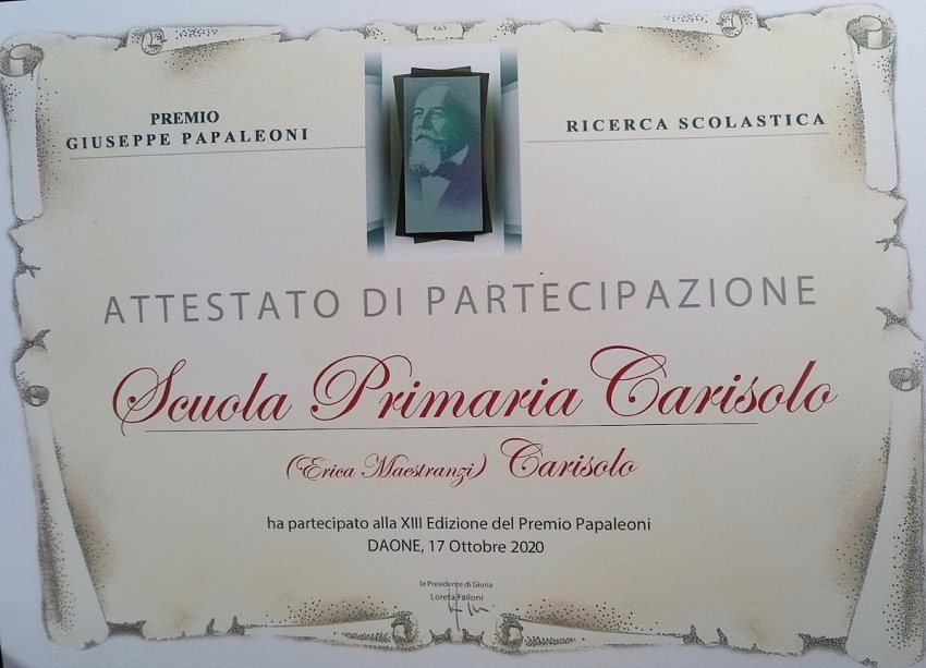 """La classe Quinta SP Carisolo vince il """"Premio Papaleoni"""""""
