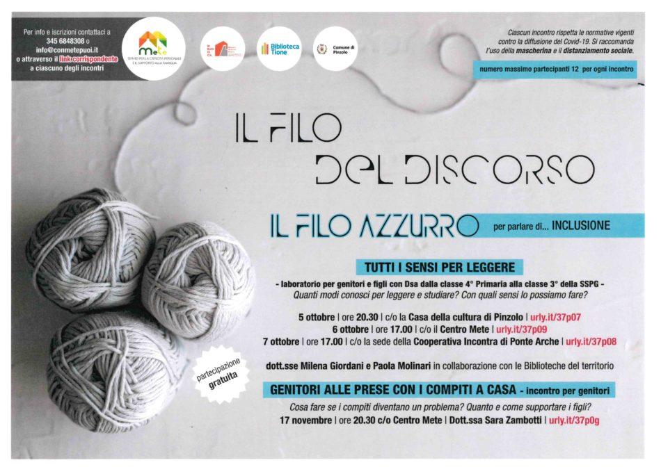 5 ottobre Pinzolo – IL FILO DEL DISCORSO