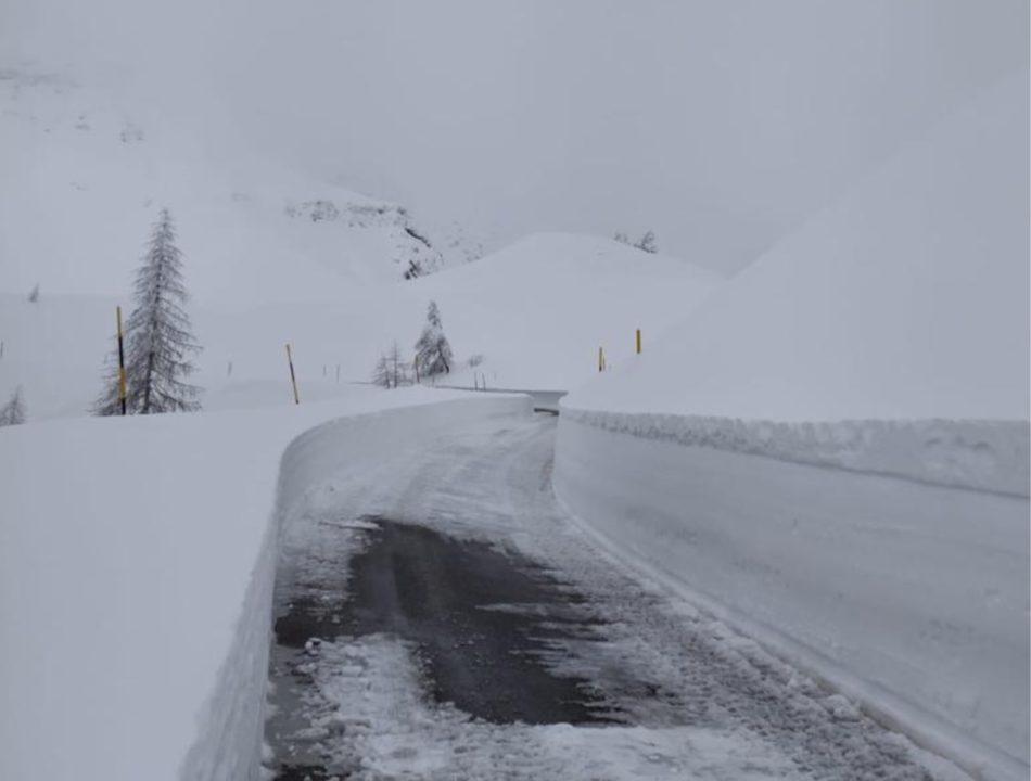Neve, la viabilità in Trentino alle ore 10