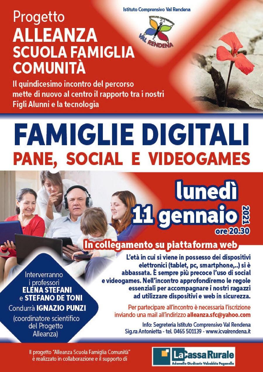 FAMIGLIE DIGITALI –PANE, SOCIAL E VIDEOGAMES