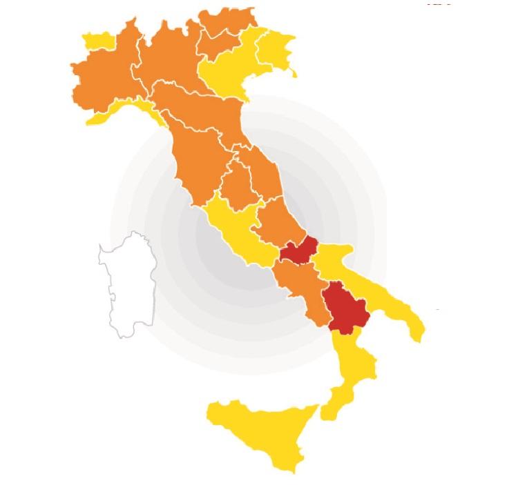 Colori delle Regioni: ecco cosa cambia da lunedì 1 marzo