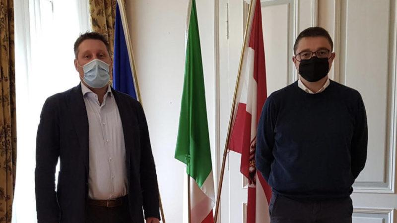 """Fugatti incontra il sindaco di Pinzolo: """"Circonvallazione strategica"""""""