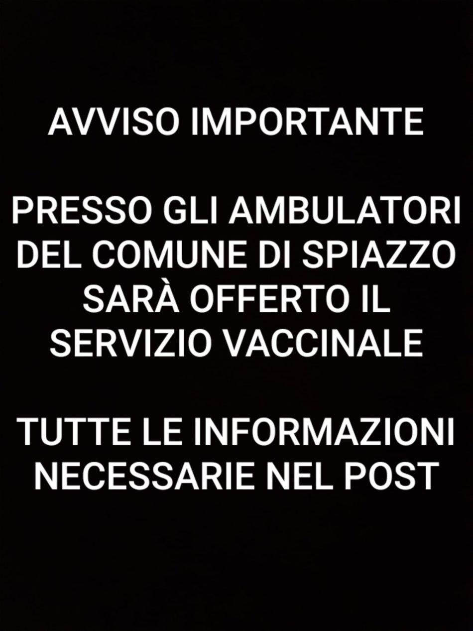 """Punto vaccinale presso la """"Casa di Riposo S.Vigilio – Fondazione Bonazza"""""""