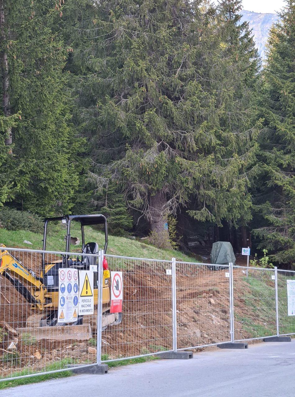 Iniziati i lavori del sentiero sbarrierato Patascoss/Lago Nambino Madonna di Campiglio