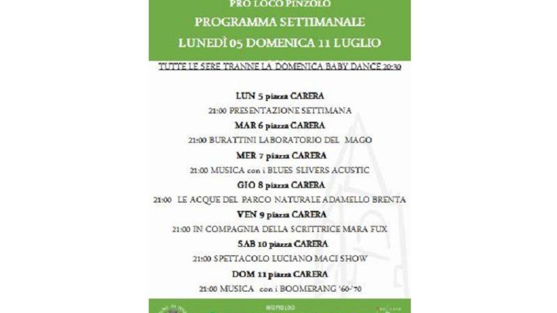 Pro Loco Pinzolo: gli spettacoli in Piazza – Settimana dal 5 all'11 luglio