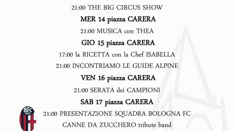 Pro Loco Pinzolo: Programmazione settimanale – Lunedì 12 Domenica 18 luglio 2021