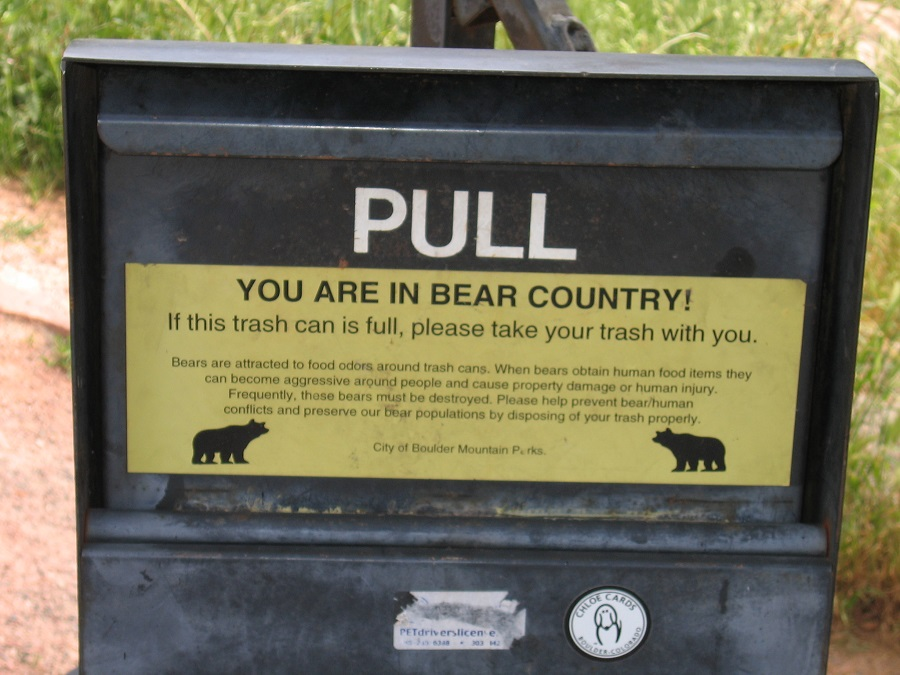 I bidoni anti-orso presenti in Colorado già nel 2015