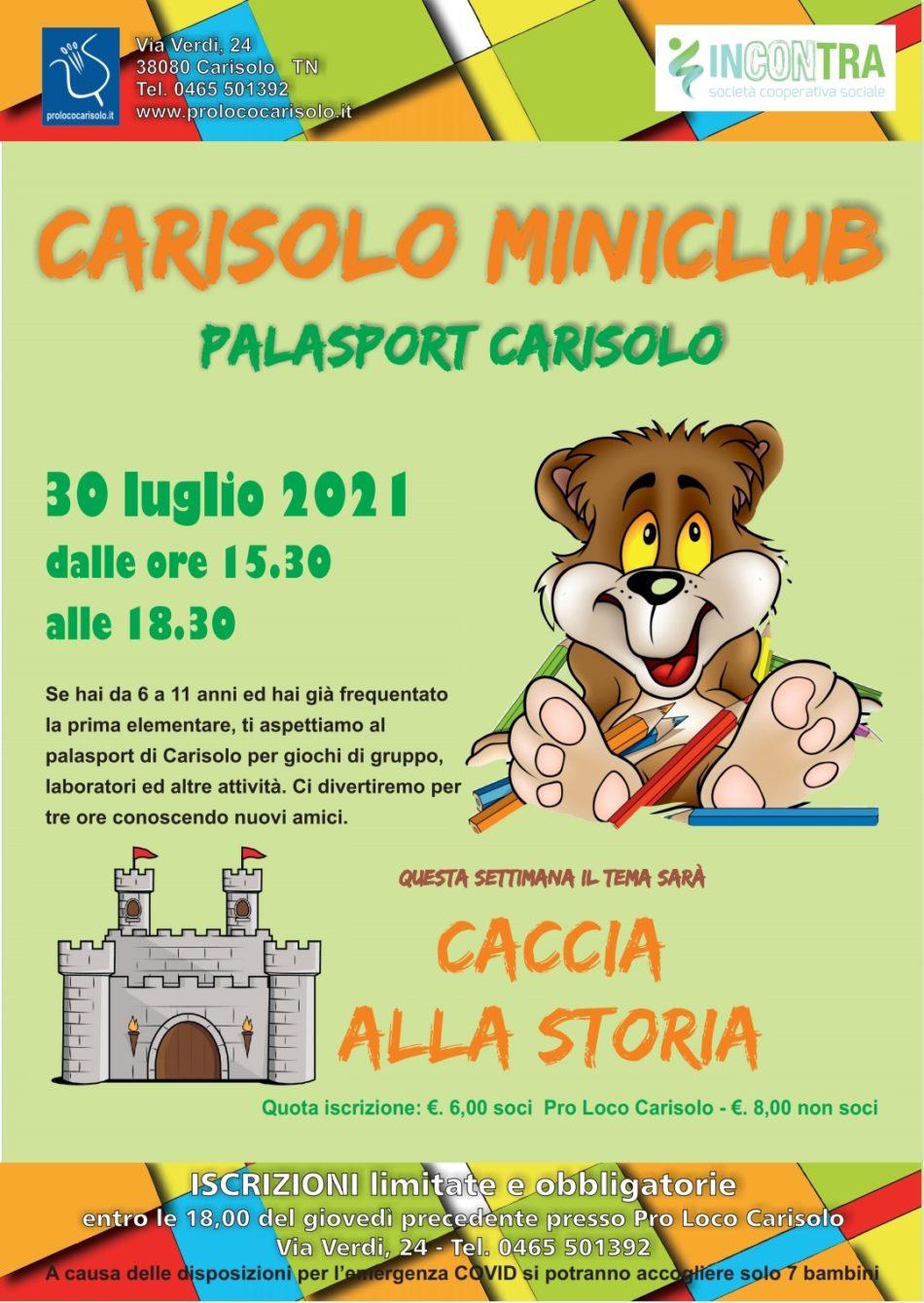 Nuove avventure al miniclub di Carisolo!