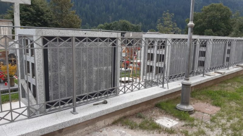 Al via il piano di gestione dei cimiteri.A Javré quasi completati i loculi